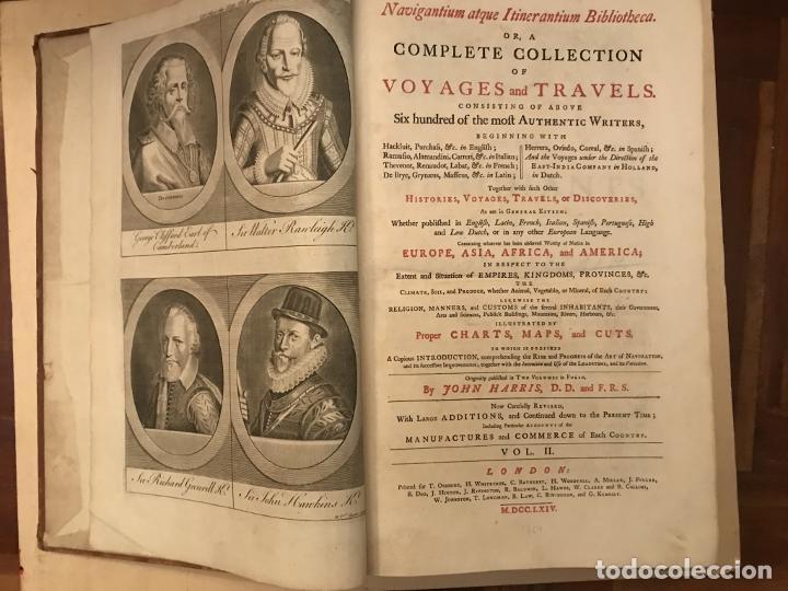 NAVIGANTIUM ATQUE ITINERANTIUM BIBLIOTHECA..., TOMO 2, 1764. JOHN HARRIS. GRANDES GRABADOS (Libros Antiguos, Raros y Curiosos - Geografía y Viajes)