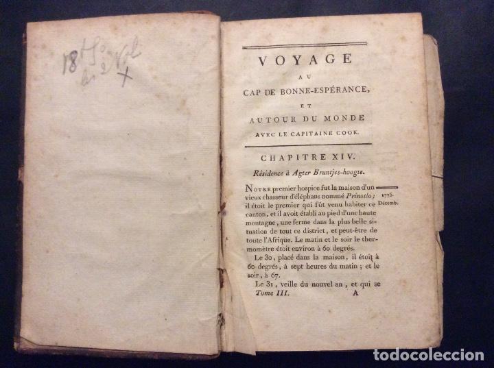 VOYAGE AU CAP DE BONNE .ESPERANCE ET AUTOUR DU MONDE ACES LE CAPITAINE COOK,PARIS 1787 (Libros Antiguos, Raros y Curiosos - Geografía y Viajes)