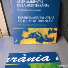 Libros antiguos: ATLAS AMBIENTAL DE LA MEDITERRANIA. Lote 236583210