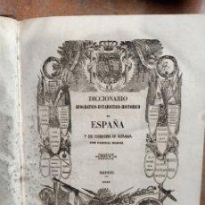 Libros antiguos: DICCIONARIO GEOGRÁFICO DE ESPAÑA Y SUS POSESIONES DE ULTRAMAR MADOZ GUIPÚZCOA HUESCA JAEN. Lote 238607135
