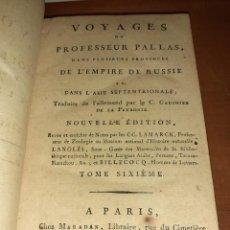 Libros antiguos: VOYAGES DU PROFESSEUR PALLAS. TOME SIXIEME. EDITION MARADAN DE 1793/94. RARO. FRANCÉS. Lote 241307010
