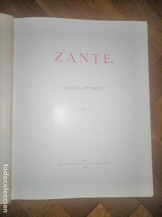 Libros antiguos: Zante. 2 volumenes . Principe Ludwig Salvator, Erzherzog Von Österreich. Praga 1904. - Foto 5 - 241974110