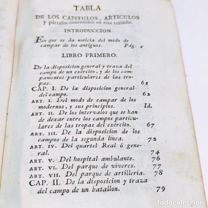 Libros antiguos: Tratado de castramentación ó arte de campar. D. Vicente Ferraz. Imprenta Real. 1800. - Foto 3 - 243434230