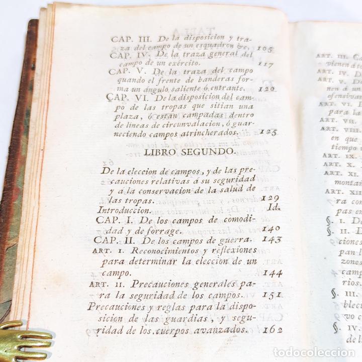 Libros antiguos: Tratado de castramentación ó arte de campar. D. Vicente Ferraz. Imprenta Real. 1800. - Foto 4 - 243434230