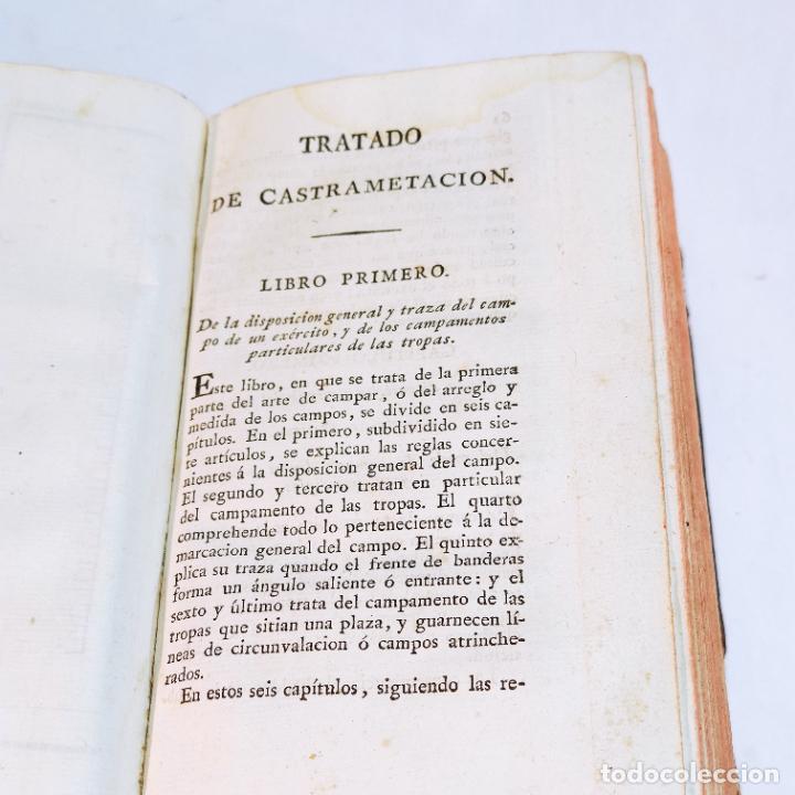 Libros antiguos: Tratado de castramentación ó arte de campar. D. Vicente Ferraz. Imprenta Real. 1800. - Foto 12 - 243434230
