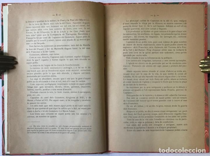 Libros antiguos: CAPSANES Y SOS ENCONTORNS. - NOGUÉ Y DE MIQUEL, Francesch. - Foto 2 - 243547265
