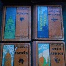 Libros antiguos: LECTURAS GEOGRAFICAS 1934 LOTE DE 4 LIBROS DE 1934 SEIX BARRAL. Lote 243579025