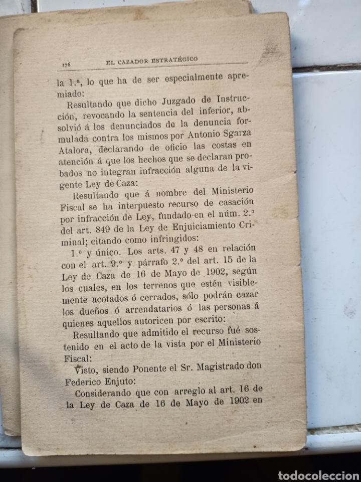 Libros antiguos: El cazador estratégico en la caza menor por Roque Sánchez 1910 no está completo - Foto 3 - 243764410