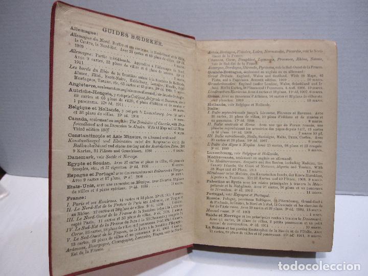 Libros antiguos: BAEDEKER, Karl. Palestine et Syrie... a travers la Mesoptamie et la Babylonie. L'ILE DE CHYPRE 1912 - Foto 2 - 244877475