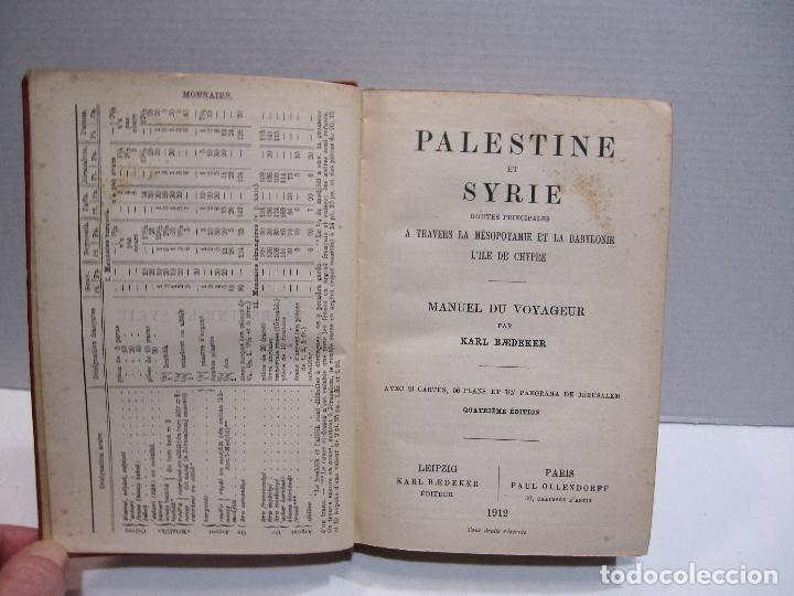 Libros antiguos: BAEDEKER, Karl. Palestine et Syrie... a travers la Mesoptamie et la Babylonie. L'ILE DE CHYPRE 1912 - Foto 3 - 244877475