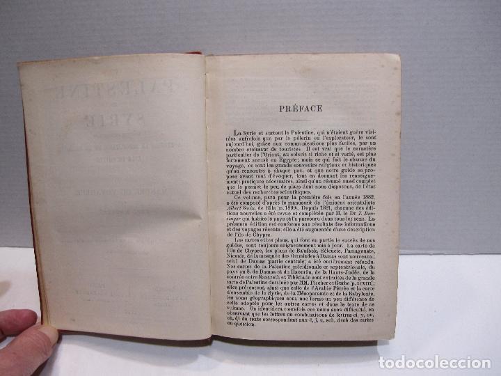 Libros antiguos: BAEDEKER, Karl. Palestine et Syrie... a travers la Mesoptamie et la Babylonie. L'ILE DE CHYPRE 1912 - Foto 5 - 244877475