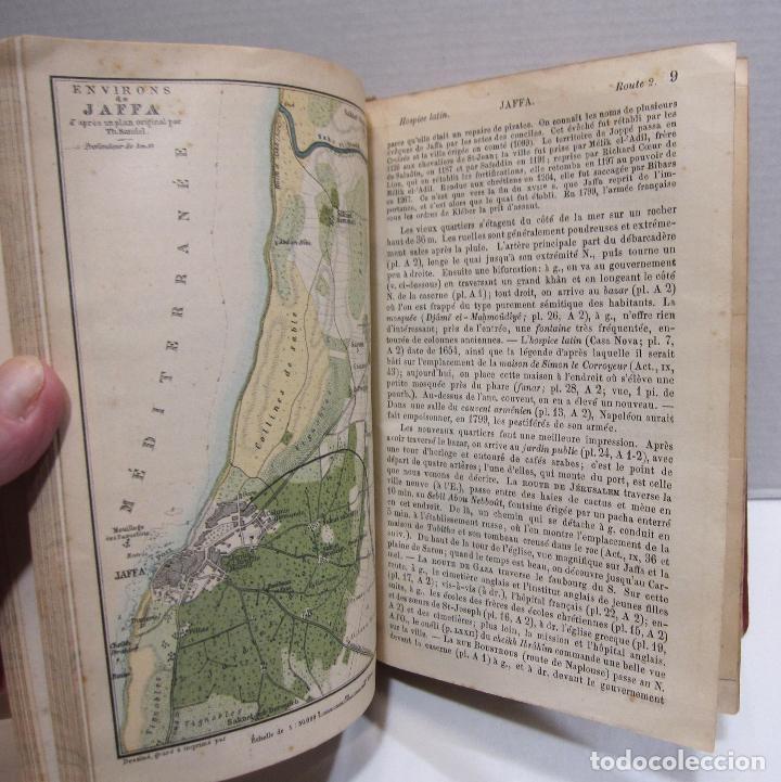 Libros antiguos: BAEDEKER, Karl. Palestine et Syrie... a travers la Mesoptamie et la Babylonie. L'ILE DE CHYPRE 1912 - Foto 6 - 244877475