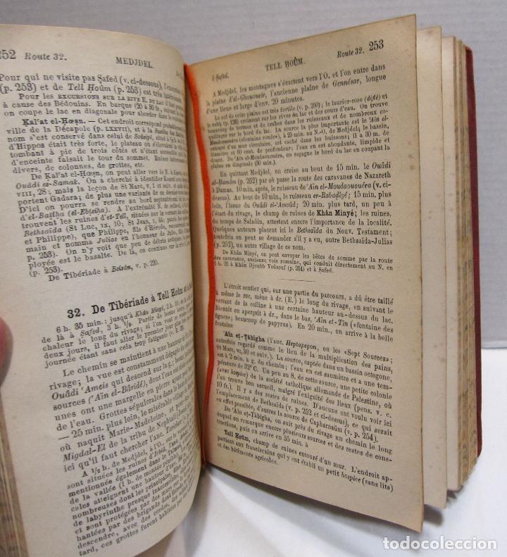 Libros antiguos: BAEDEKER, Karl. Palestine et Syrie... a travers la Mesoptamie et la Babylonie. L'ILE DE CHYPRE 1912 - Foto 11 - 244877475