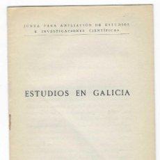 Libros antiguos: ESTUDIOS EN GALICIA. 1928. Lote 244950210