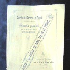 Livros antigos: LA IMAGEN Y CAPILLA NTRA SRA DE LA PIEDAD 1889 LA BISBAL D'EMPORDÀ OCTAVIO DE CARRERAS Y FIGARÓ. Lote 245058670