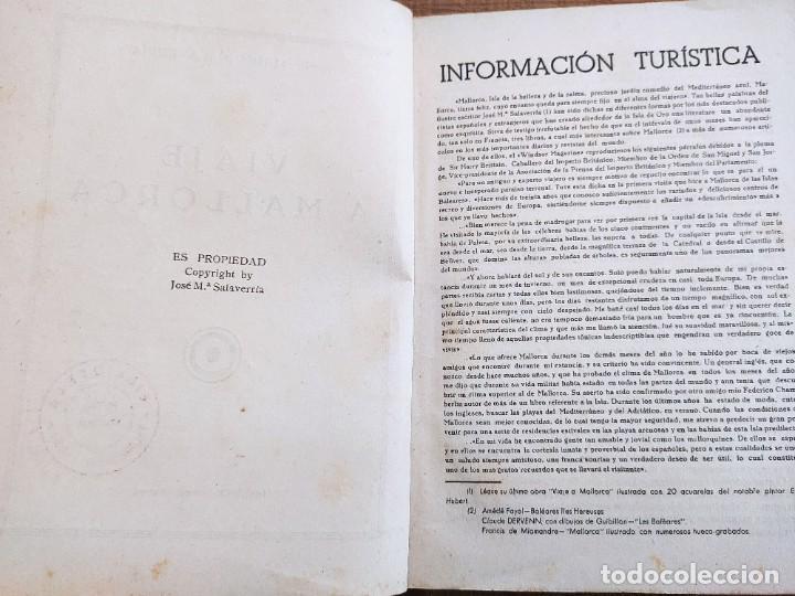 Libros antiguos: VIAJE A MALLORCA. JOSÉ MARIA SALAVERRIA. VICH. INCA - PALMA DE MALLORCA. 1934. - Foto 3 - 245375305