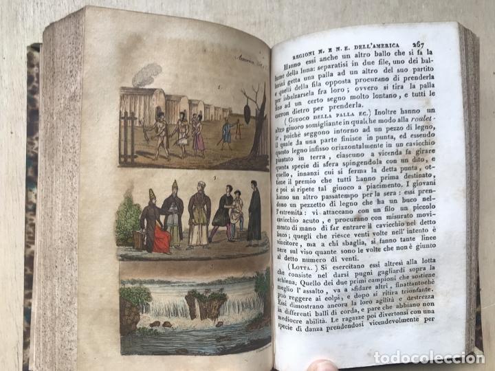 Libros antiguos: Il costume Antico e Moderno....4 tomos de America. Giulio Ferrario. Grabados a color - Foto 8 - 245378180