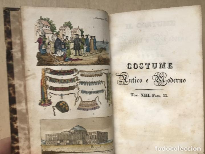 Libros antiguos: Il costume Antico e Moderno....4 tomos de America. Giulio Ferrario. Grabados a color - Foto 10 - 245378180