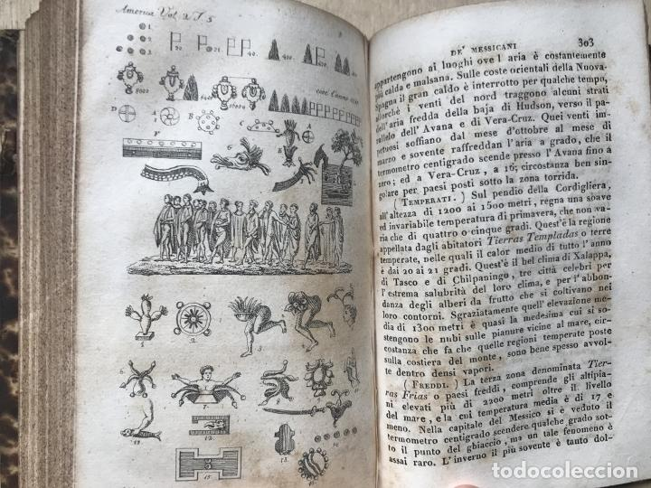 Libros antiguos: Il costume Antico e Moderno....4 tomos de America. Giulio Ferrario. Grabados a color - Foto 12 - 245378180