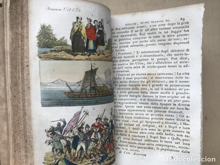 Libros antiguos: Il costume Antico e Moderno....4 tomos de America. Giulio Ferrario. Grabados a color - Foto 16 - 245378180