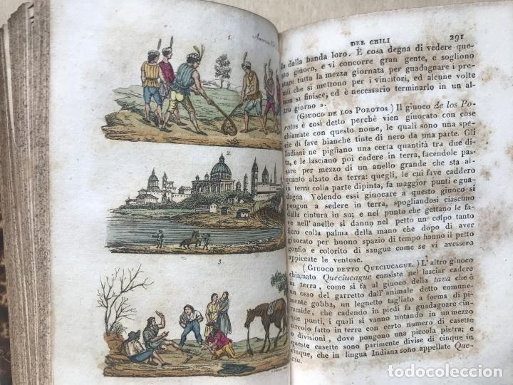 Libros antiguos: Il costume Antico e Moderno....4 tomos de America. Giulio Ferrario. Grabados a color - Foto 19 - 245378180