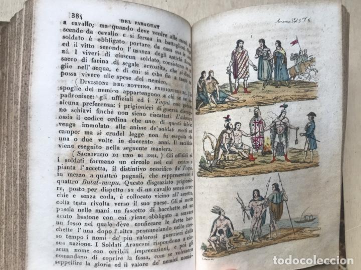 Libros antiguos: Il costume Antico e Moderno....4 tomos de America. Giulio Ferrario. Grabados a color - Foto 20 - 245378180