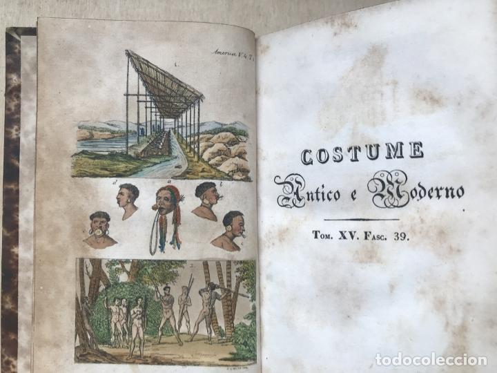 Libros antiguos: Il costume Antico e Moderno....4 tomos de America. Giulio Ferrario. Grabados a color - Foto 21 - 245378180