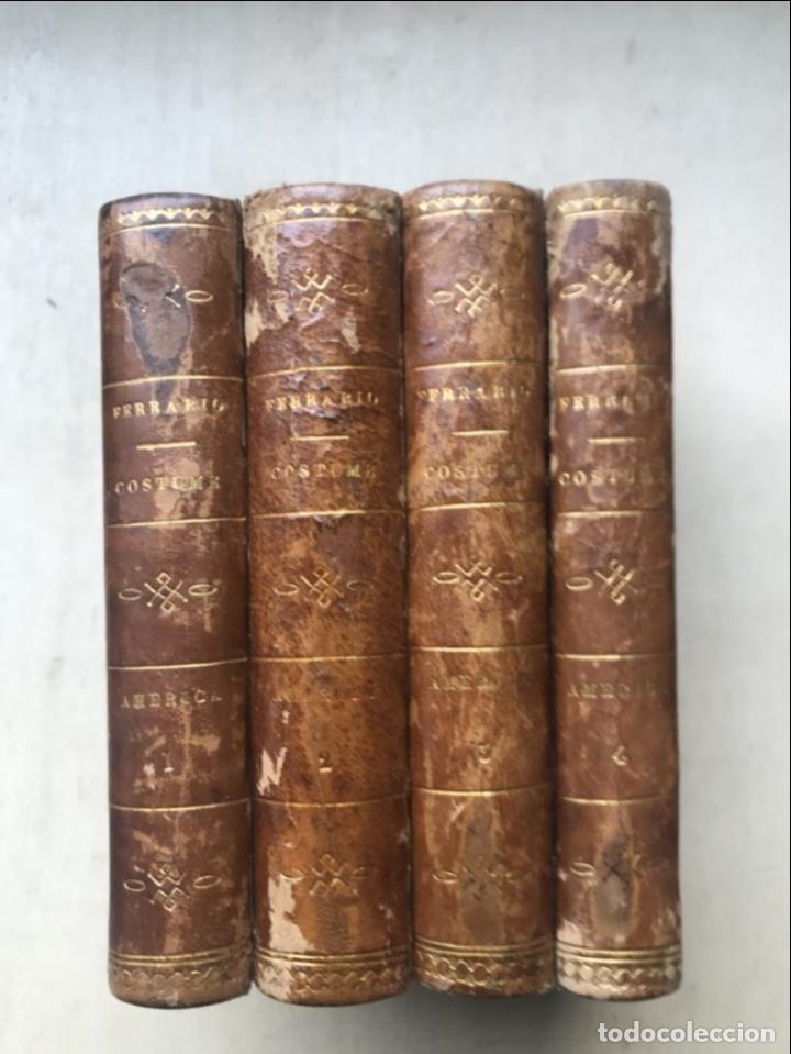 IL COSTUME ANTICO E MODERNO....4 TOMOS DE AMERICA. GIULIO FERRARIO. GRABADOS A COLOR (Libros Antiguos, Raros y Curiosos - Geografía y Viajes)