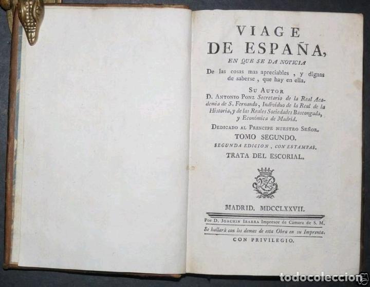 Libros antiguos: Viage de España,...tomo II, 1776. Antonio Ponz. Grabados - Foto 2 - 245393540