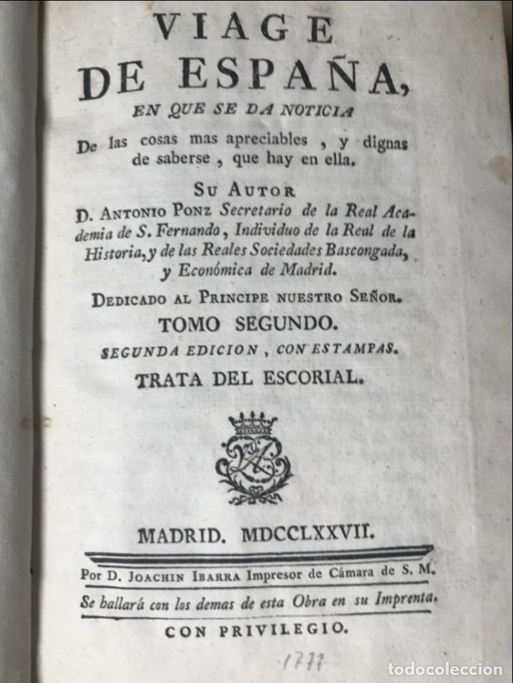 Libros antiguos: Viage de España,...tomo II, 1776. Antonio Ponz. Grabados - Foto 14 - 245393540