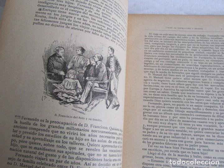Libros antiguos: Viajes de instrucción y recreo por Europa y América, Ed. Barcelona, 1909 - Foto 9 - 245458415