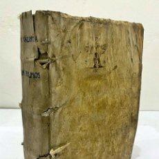 Libros antiguos: AÑO 1568: LIBRO DEL OBISPO DE VALENCIA JAIME PÉREZ. PERGAMINO DEL SIGLO XVI.. Lote 245918945