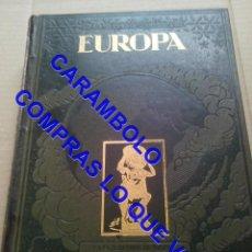 Libros antiguos: PRECIOSA ENCUADERNACION EN PIEL Y TELA ESTAMPADA. EUROPA RICARDO BELTRAN 3 KILOS U41. Lote 247495330