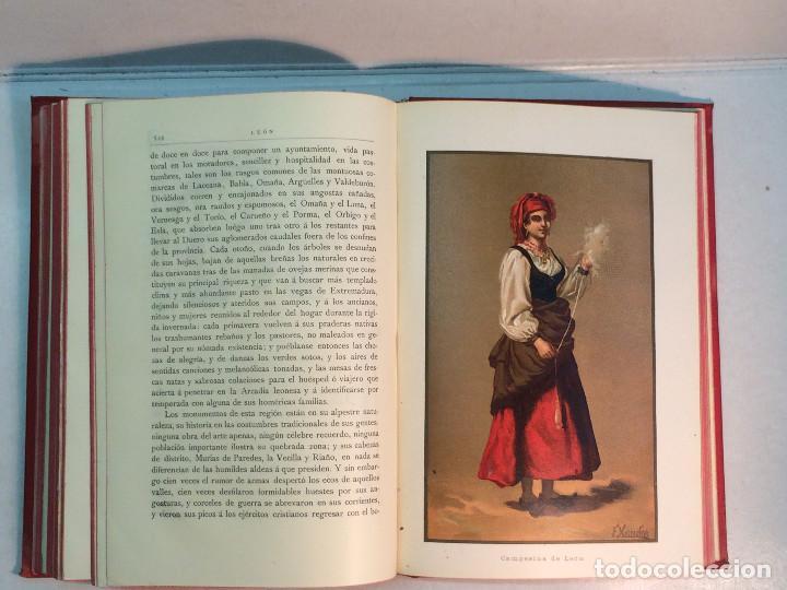 Libros antiguos: José Mª Quadrado: España. Sus monumentos y artes. Su naturaleza e historia. Asturias y León (1885) - Foto 10 - 248682045