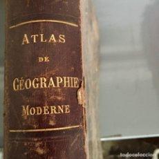 Libros antiguos: ATLAS DE GÉOGRAPHIE MODERNE, 1898 - F. SCHRADER, F. PRUDENT Y E. ANTHOINE - CON 64 GRABADOS A COLOR. Lote 252808845