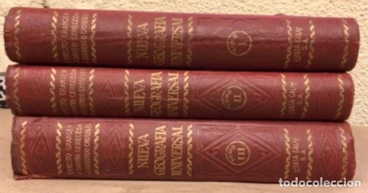 NUEVA GEOGRAFÍA UNIVERSAL. ED. ESPASA CALPE 1928. 3 TOMOS. VV.AA. (Libros Antiguos, Raros y Curiosos - Geografía y Viajes)