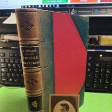 Libros antiguos: TRAZOS VENATORIOS Y PRÁCTICAS CINEGETICOS 1911. BADAJOZ. LIBRO PERSONAL DEL AUTOR.+FOTO ORIGINAL. Lote 254887720