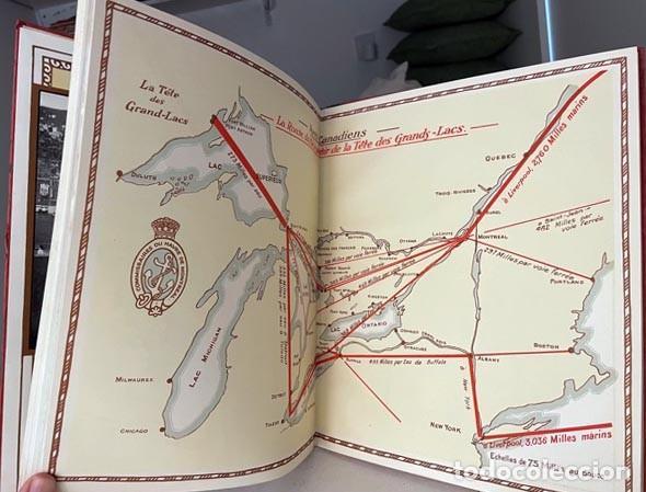 Libros antiguos: Le port de Montréal au soixantième anniversaire... 1927. (Puerto de Montréal. Mapas. Fotografías. - Foto 5 - 255994335