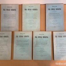 Libri antichi: BOLETIN REAL SOCIEDAD GEOGRAFICA / 1926 / 1927 / 1928. Lote 256022395
