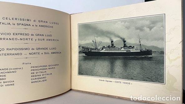 CONTE VERDE (SERVICIO GRAN LUJO MEDITERRÁNEO NORTE Y SUR AMÉRICA. (1926) LLOYD SABAUDO (Libros Antiguos, Raros y Curiosos - Geografía y Viajes)