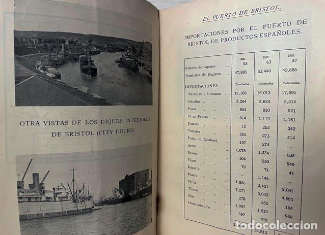 Libros antiguos: El Puerto de Bristol (Puerta del Oeste de Inglaterra) Exposición Internacional de Barcelona 1929. - Foto 2 - 256892385