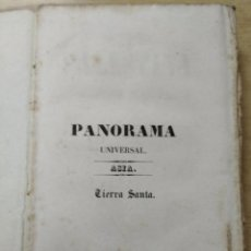 Libros antiguos: PANORAMA UNIVERSAL PINTORESCO. PALESTINA O TIERRA SANTA. 1842. Lote 260015650