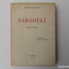 Libros antiguos: LIBRERIA GHOTICA. AGUSTÍ RIUS I BORRELL. SABADELL. MONOGRAFIA. 1929. PRIMERA EDICIÓ.. Lote 260363810