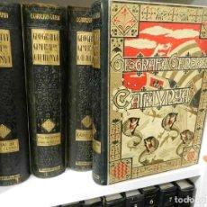 Libros antiguos: GEOGRAFIA GENERAL DE CATALUNYA. DIRIGIDA. FRANCESC CARRERAS I CANDI, 6 VOL.OBRA COMPLETA. Lote 261203795