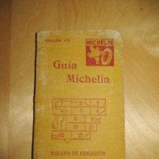 Libros antiguos: GUÍA MICHELIN 1927 EDICIÓN VIII 8 CUADRO DE CONJUNTO DEL MAPA ESCALA 1:400.000. Lote 261698445