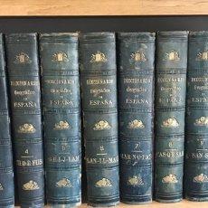 """Libros antiguos: COLECCIÓN 12 TOMOS. """"DICCIONARIO GEOGRÁFICO, ESTADÍSTICO HISTÓRICO BIOGRÁFICO. PABLO RIERA 1881/ 87. Lote 263218010"""