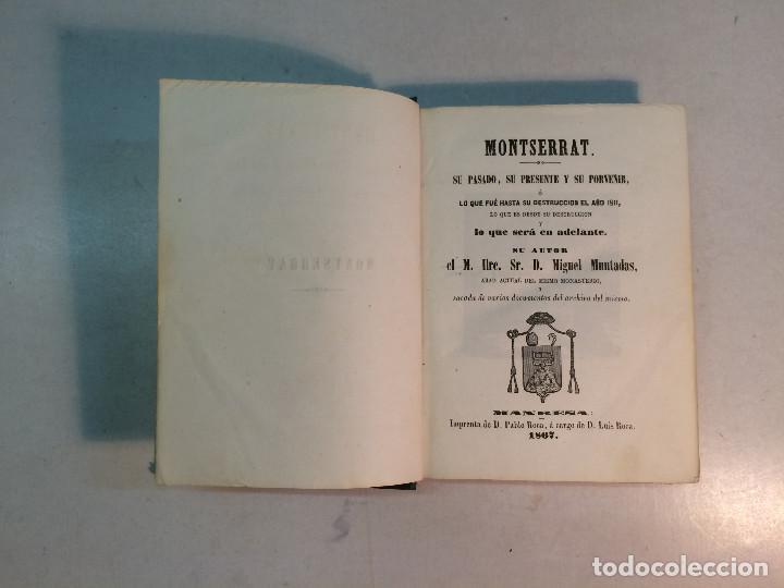 Libros antiguos: Lote Montserrat (3 libros) - Foto 4 - 263810055