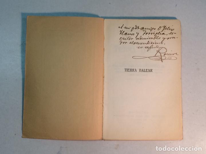 Libros antiguos: Prudencio Rovira: Tierra Balear. Esbozos mallorquines. (1913) (Dedicado) - Foto 3 - 264281576