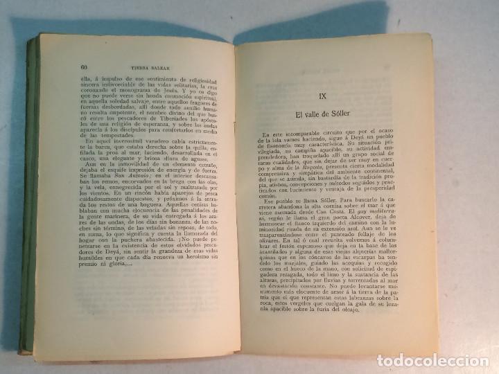 Libros antiguos: Prudencio Rovira: Tierra Balear. Esbozos mallorquines. (1913) (Dedicado) - Foto 6 - 264281576