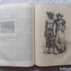 Libros antiguos: MONUMENTAL EDICIÓN DE VIAJES ANTIGUOS, LA TIERRA Y SUS HABITANTES. 1878. 2 TOMOS. MUCHOS GRABADOS. Lote 265487714